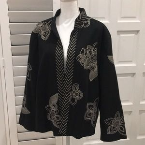 Black Embroidered Jacket size 3X